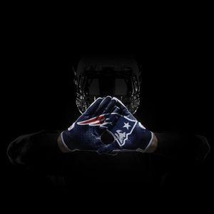 Nike Superbad Patriots Receiver Gloves Blue Rare